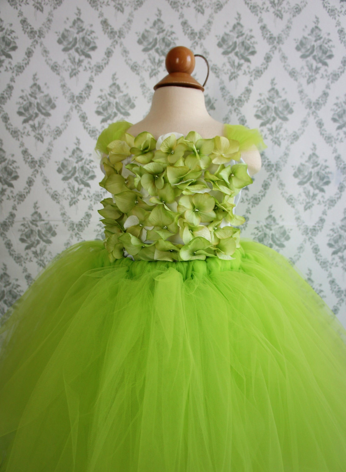 Flower girl dress Apple Green tutu dress flower top baby