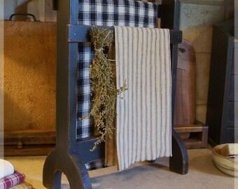 Primitive Towel or Dry Rack Farmhouse Kitchen or Bathroom / Original Design / Lamp Black / Color Choice