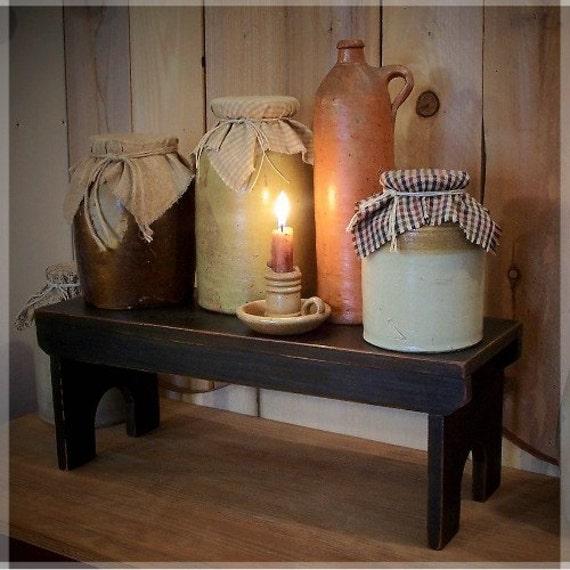 Items Similar To Primitive Crock Bench Riser Bench