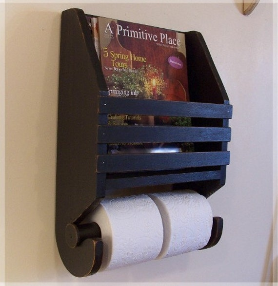 Items similar to primitive magazine rack toilet paper for How to make a magazine holder from cardboard