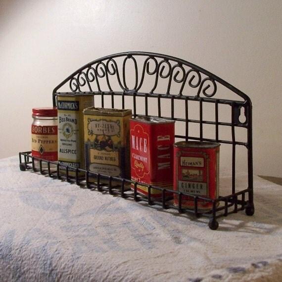 Black Wire Spice Rack Kitchen Storage