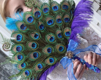 Peacock Paradise Fan Bouquet