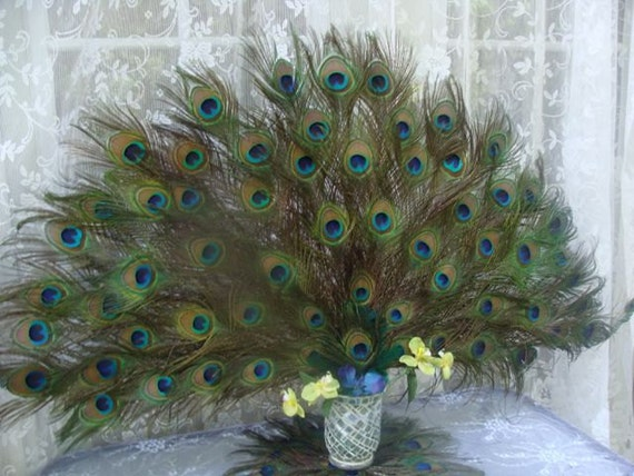 50% FINAL PAYMENT Custom Peacock Spray Centerpiece for lburrows3  06-08-2012
