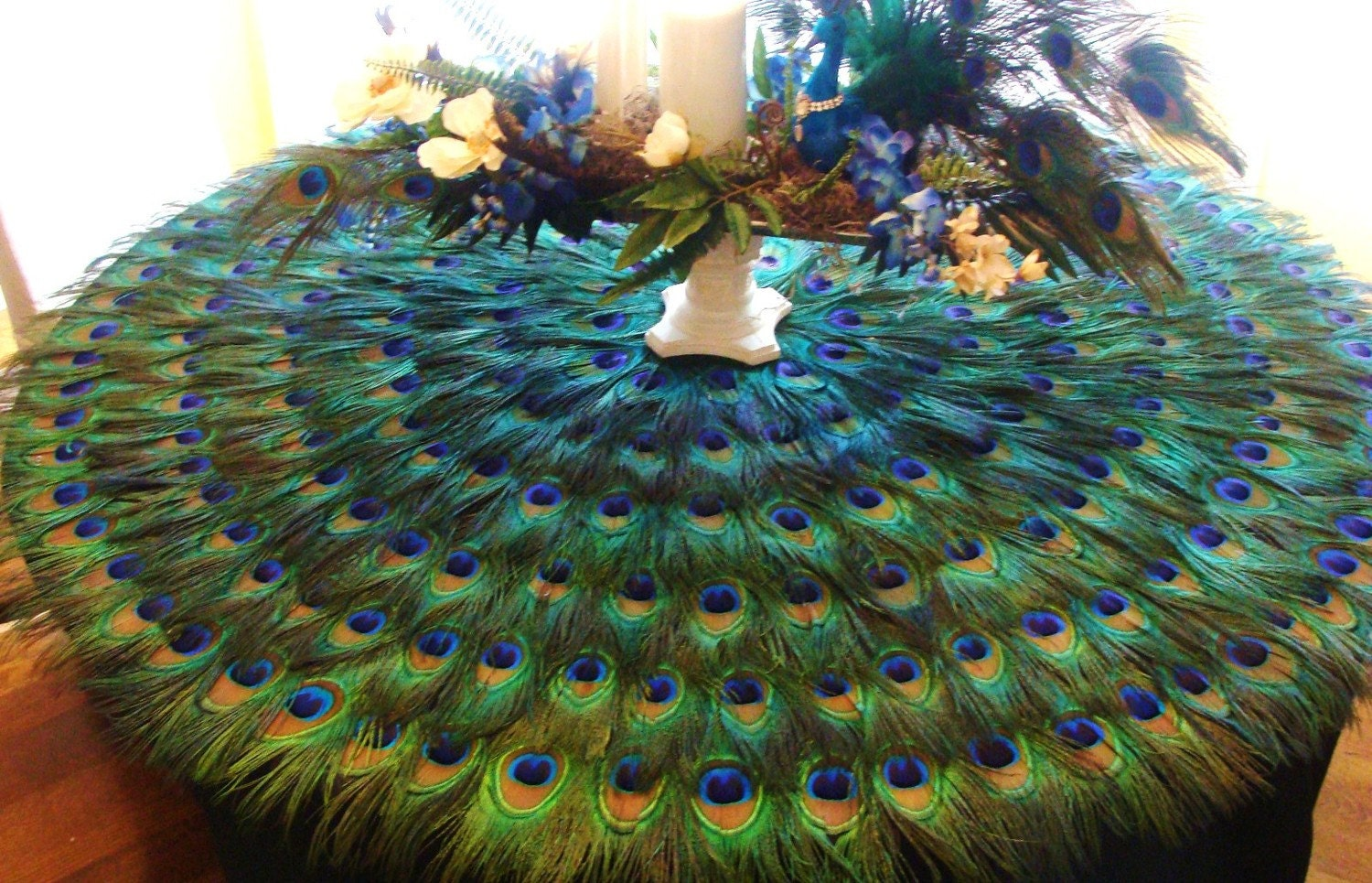Extravagant Peacock Feather Mat CUSTOM CREATED for YOU