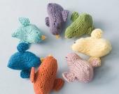 Stuffed Animal Toy, Child's Gift, Easter Basket Toy,  Hand Knit Bird Toy, Waldorf Toy, Nursery Decor, Bird Amigurumi