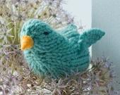 Knit Bird Stuffed Animal, Easter Basket Toy, Easter Gift,  Nursery Decor,  Waldorf Toy,  Stocking Stuffer, Bird Amigurumi, Bird Toy