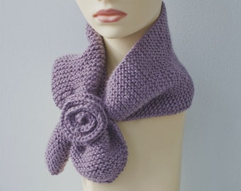 Purple Scarf,  Keyhole Scarf, Vegan Neck Warmer, Self Tying Scarf, Stay in Place Scarf, Gift for Aunt
