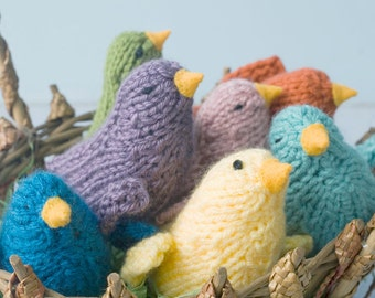 Knit Bird Toy,  Baby Shower Favor, Stocking Stuffer, Child Gift, Small Stuffed Animal, Waldorf Toy, Bird Amigurumi