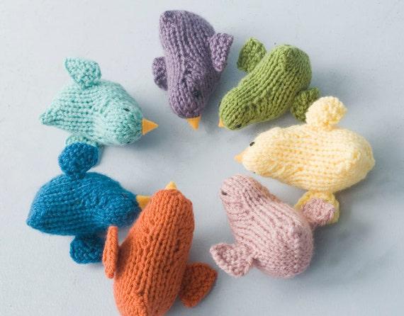 Stuffed Animal Toy, Child's Easter Gift,  Hand Knit Bird Toy, Waldorf Toy, Nursery Decor, Bird Amigurumi
