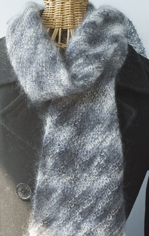Free Knitting Pattern For Mohair Shawl : Mohair Scarf Patterns Patterns Gallery