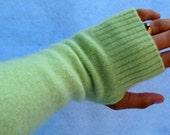 Lime Green Fingerless Gloves