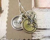 Custom Jewelry ... Personalized Family Necklace ... Handstamped Necklace ... Mothers Necklace ...