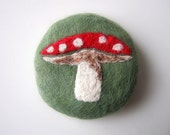 Toadstool Needle Felted Soap Green Tea Scent
