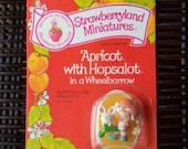 Vintage Strawberry Shortcake Figure - Apricot with Hopsalot in a Wheelbarrow
