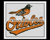 Baltimore Orioles MLB Baseball PDF Cross Stitch Pattern -- EIGHT Designs to Choose From