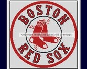 Boston Red Sox MLB Baseball PDF Cross Stitch Pattern -- SIX Designs to Choose From