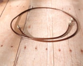 Brown Handmade Leather Cord Necklace