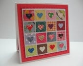 Colorful Hearts Inchie Card