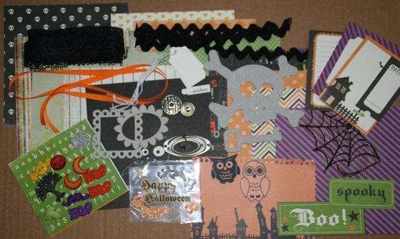 Boo to You Mini Album kit, Mini card making Kit