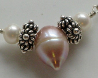 Cultured Pearl and Sterling Silver Necklace