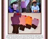 Beaded Cupcake Fingerless Mittens Pattern PDF
