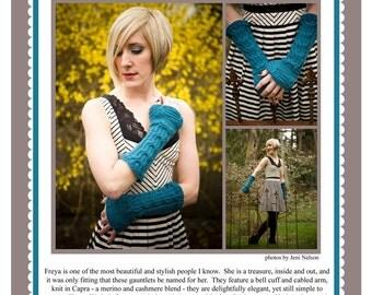 Freya Gauntlet Knitting Pattern PDF