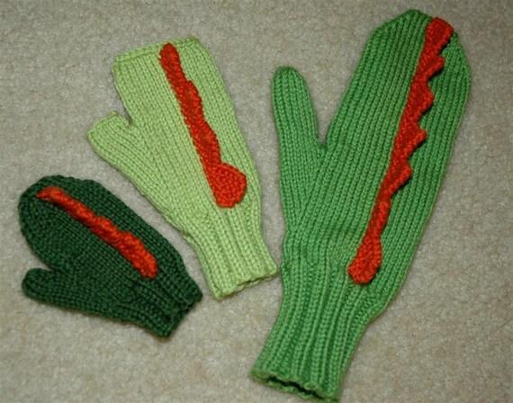 Dinosaur Gloves Knitting Pattern : Dinosaur Mittens Pattern PDF from nonapearl on Etsy Studio