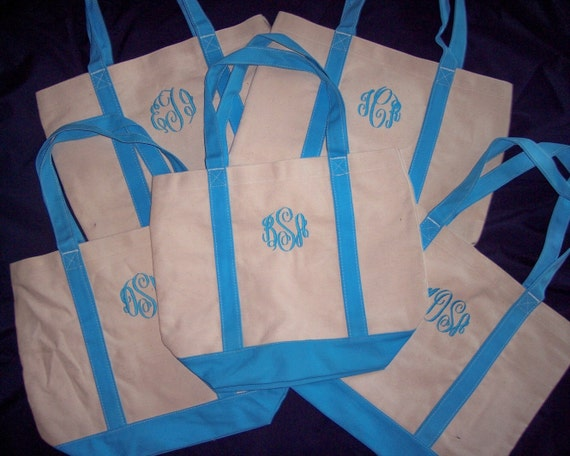 Shelby - list for 22 Aqua - sale - Large Boat Tote Bag - MONOGRAMMED FREE - personalized handbag