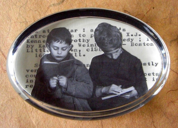 SALE Boston Readers // Bookish Paperweight