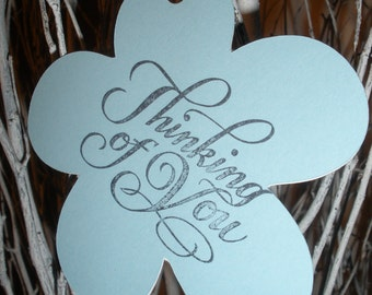 Attractive Flower Shaped (Thinking of You) Tags ( Set of 6 )