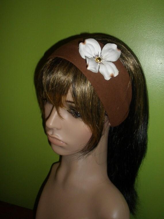 Beautiful Brown and Cream White Women or Girls Headband