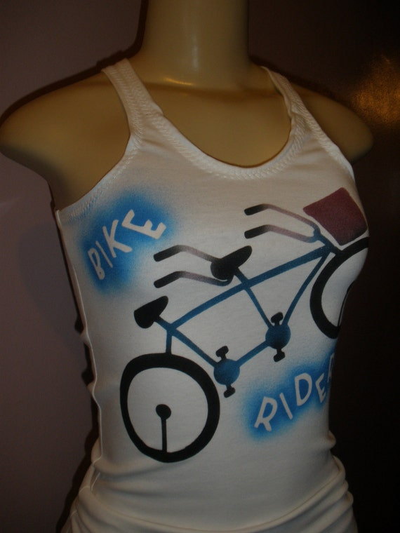 Sleeveless Women's Tank Top with the Message ( Bike Rider ) Size Small/Medium/Large, Ladies Top