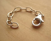 Reserved for a very special client ~ Drawn Cable 4 Inch Extender Chain ... Oxidized Sterling Silver