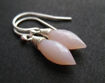 Grace ... Pink Opal and Sterling Silver Earrings