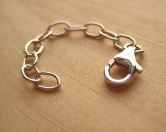 Drawn Cable 2 Inch Extender Chain ... Sterling Silver