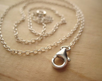 Cable Chain ...Shiny or Oxidized Sterling Silver... Add a Pendant