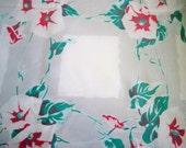 Vintage 1950s Wilendur Morning Glory Tablecloth