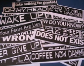 Pot-luck selection of 20 political / radical slogan stickers