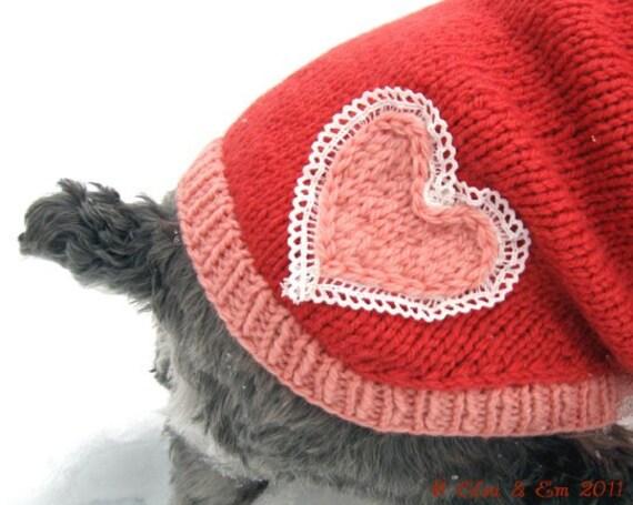 Be Mine, Valentine Embellished Wool Dog Sweater (S)