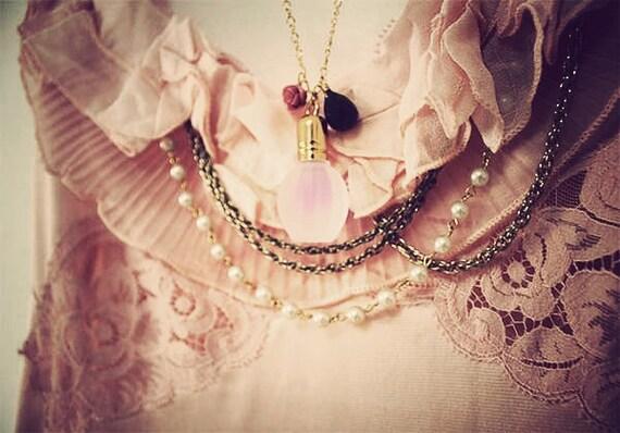 Miss Lavender Perfume Fragrance Bottle Scent Lavender Statement Feminine Elegant Crystal Rose Gold Sterling Silver Pink Love Heart Valentine