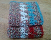 Country Red and Blue Dish Cloths