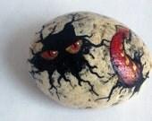Red Hatching Critter Egg Rock