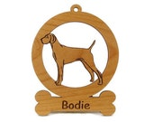 Vizsla Standing Dog Ornament 084192 Personalized With Your Dog's Name