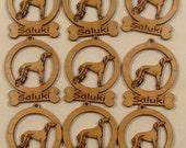 9 Mini Saluki Dog Ornaments