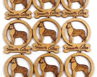 9 Mini Smooth Collie Dog Ornaments