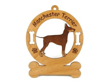 3536 Manchester Terrier Standing Personalized Ornament