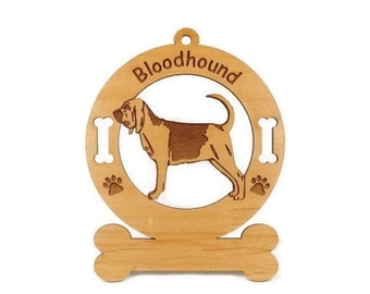 1792 Bloodhound Standing Personalized Ornament