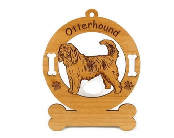 3646 Otterhound Standing Personalized Dog Ornament o- Free Shipping