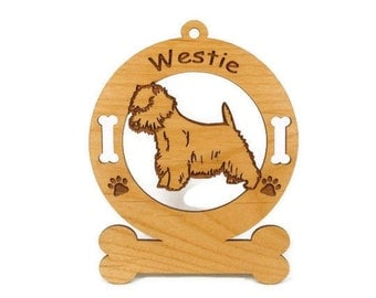 4215 Westie Standing Personalized Dog Ornament