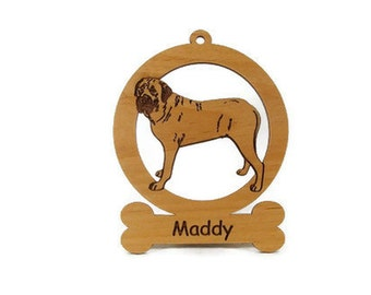 Mastiff Standing Dog Ornament 083545 Personalized With Your Dog's Name